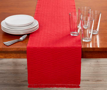Kitchen linens table clothes towels more big lots for Table runners 52 inches