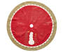 Red Rustic Linen Tree Skirt Silo