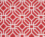 Red Sampson Stripe and Tile Seat Pads  2 Pack swatch