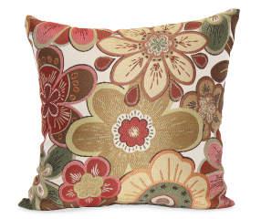 Red Siobohn Floral Throw Pillow, (18