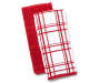 Red Solid and Stripe Kitchen Towels 2-Pack Silo