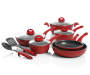Red Speckle Cast Iron 12 Piece Cookware Set Silo