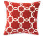 Red Spencer White Linked Tile Decorative Throw Pillow Silo Image