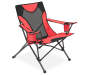 Red Sports Folding Quad Chair silo front