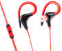 Red Sports v2 Headphones with Mic Volume Control on White Background
