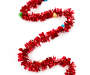 Red Tinsel Ornament Garland 12 Feet on White Door Silo Image