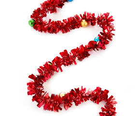Winter Wonder Lane Red Tinsel Ornament Garland 12