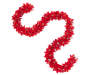 Red Velvet Poinsettia Chain Garland 6 Feet Snake Pose Silo