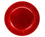 Red Wavy Charger Plate Silo