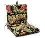 Red and Black Tropical Plant Reversible Outdoor Chair Cushion silo front