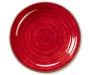 Red and Brown Swirl Melamine Dinner Plate silo front