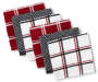 Red and Plaid Cotton Dish Cloth 6 Pack Fanned Silo