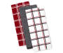 Red and Plaid Kitchen Towels 3 Pack Fanned Silo