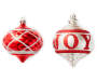 Red and Silver Joy Onion-Shaped Shatterproof Ornaments16-Pack 2 Ornaments Out Of Package Silo