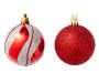 Red and Silver Shatterproof Ornaments 24-Pack 2 Out Of Package Silo