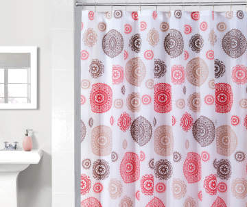 red and tan shower curtain.  6 00 Just Home Red Tan Shower Curtains Curtain Sets Big Lots