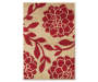 Red and Tan Nicolet Accent Rug 2 Feet by 2 Feet 11 Inch Overhead Shot Silo Image