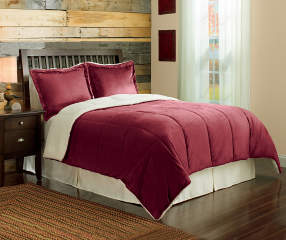 Arctic Trail Redwood Sherpa King 3 Piece Comforter Set