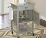 Reed Gray Steel Top Kitchen Cart with Storage lifestyle