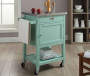 Reed Green Steel Top Kitchen Cart with Storage lifestyle