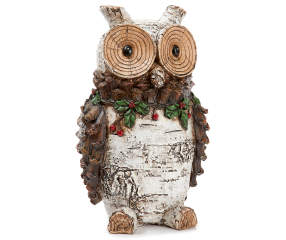 Rustic Cottage Collection Resin Birch Owl | Big Lots