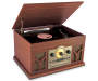 Retro Woodgrain Bluetooth 6 in1 Music Player silo angled view