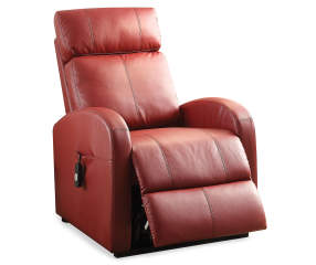 Acme Ricardo Red Faux Leather Power Lift Recliner Big Lots