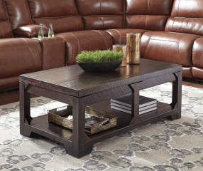 signature design by ashley rogness rustic lift top coffee table big lots. Black Bedroom Furniture Sets. Home Design Ideas
