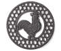 Rooster Cast Iron Trivet with Circles Silo Image