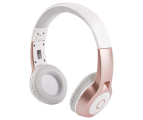 vivitar rose gold metallic bluetooth headphones big lots. Black Bedroom Furniture Sets. Home Design Ideas