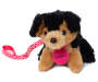 Rottweiler Charlotte Pet Plush Doll Dog with Leash Silo Image