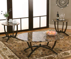 Faux Marble 3 Piece Occasional Table Set Big Lots