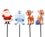 Rudolph Lighted Pathway Marker 4-Pack Silo