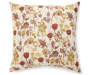Russet Summer Garden Throw Pillow 20 Inches by 20 Inches Front Overhead View Silo Image