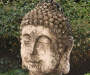 Rustic Buddha Resin Statue lifestyle