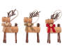 Rustic Cork Deer Ornaments 3 Pack Out of Package Side by Side Silo Image