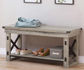 Stratford Rustic Crossbar Entryway Bench Big Lots