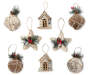 Rustic Ornaments 8 Pack Out of Package Silo Image