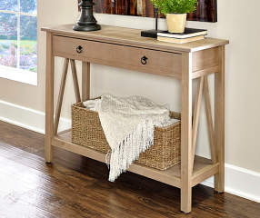 Rustic Pine Console Table | Big Lots