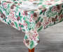 Rustic Pinecones Tablecloth 52 by 70 Lifestyle Image On Table