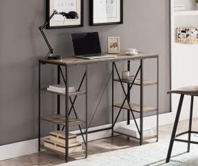 Stratford Rustic Trestle 6 Shelf Standing Desk Big Lots