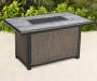 SHADOW CREEK 48X30 RECTANGULAR WOOD LOOK STONE TOP FIRE PIT TABLE