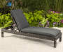 SHADOW CREEK ALL WEATHER WICKER CHAISE LOUNGE WITH CUSHION