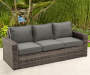SHADOW CREEK ALL WEATHER WICKER DEEP SEATING SET - 3 PERSON SOFA