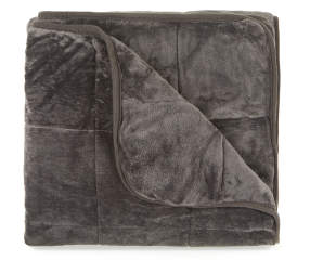 Snuggle Me Gray Weighted Throw Blanket 12 Lbs Big Lots
