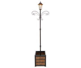 Wilson Amp Fisher Solar Light Post With Faux Wood Square
