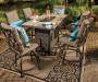 STONERIDGE 6PK CUSHIONED HIGH DINING CHAIRS