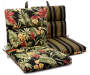 SUNSET BLK/RED TROPICAL CHAIR CUSHION