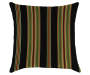 SUNSET BLK/RED TROPICAL TOSS PILLOW