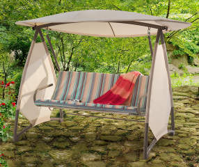 Wilson Amp Fisher Stripe Canopy Swing With Awning Big Lots